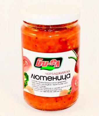 "Ljutenica 4.4 Chorbadzhiyska Ljutenica ""Biel"" (Tomaten-Paprika-Brotaufstrich) (Ljutenica/Ajvar)"