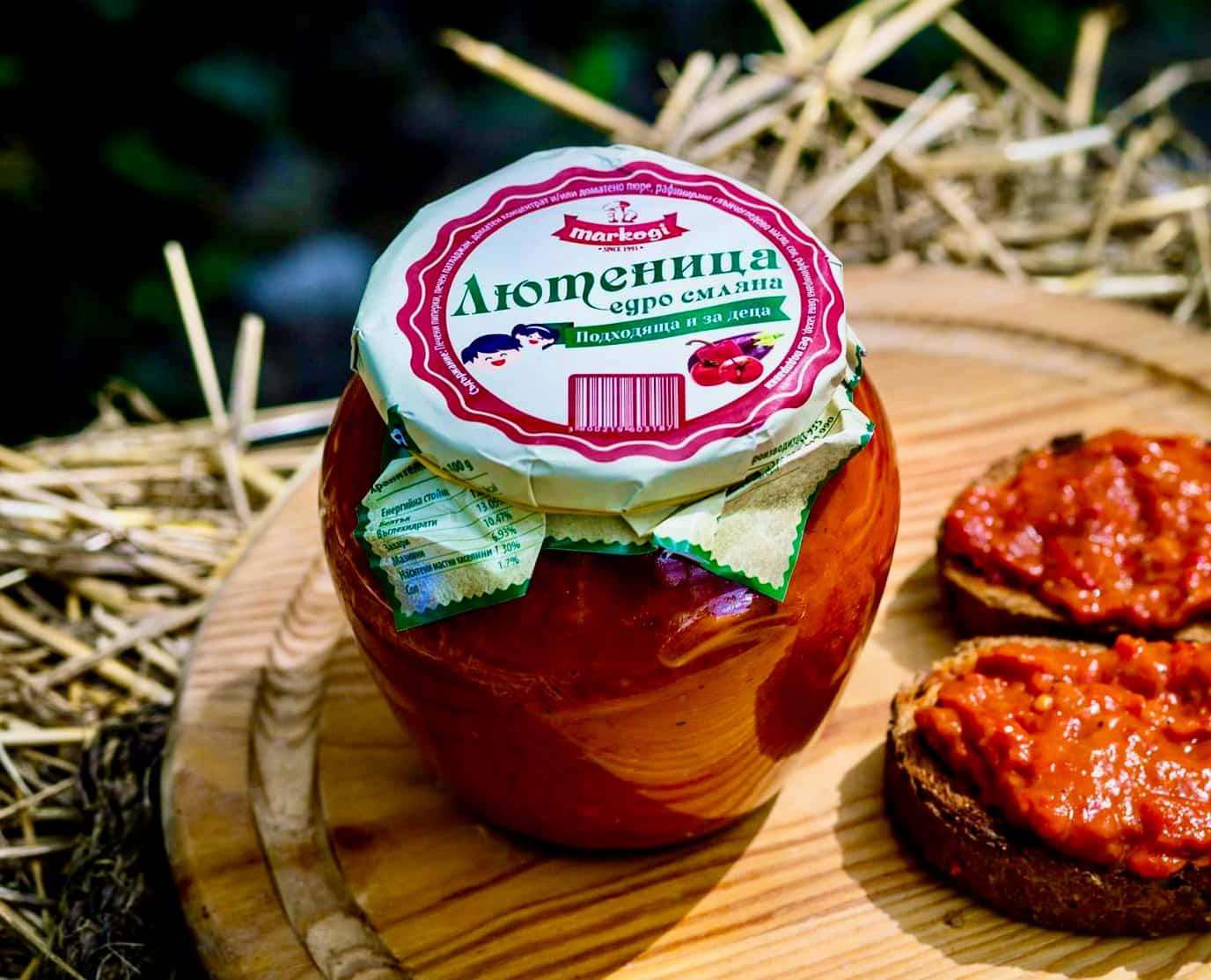 Hausgemachter Tomaten-Paprika-Aufstrich / Lyutenitza (wie Ajvar), grob gemahlen aus dem Dorf Hrishtene Bulgarien, 560 g 3